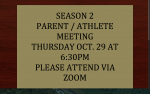Season 2 Parent and Athlete Meeting