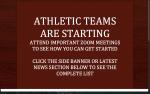Athletic Teams Begin…..