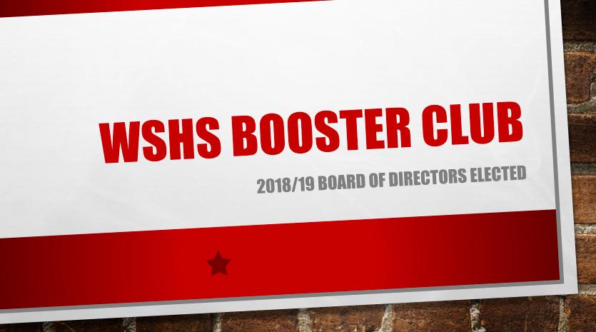 2018/19 Booster Club Board Announced