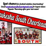 Last Chance to Try Out for Football Sideline Cheerleading!