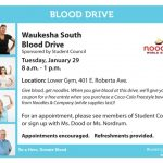 REMINDER-Blood Drive TOMORROW (Tuesday, 1/29)