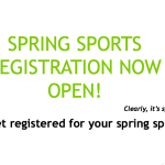 Spring Sports Registration Now Open
