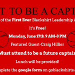 Blackshirt Leadership Academy Registration Now Open – SIGN UP TODAY!