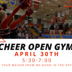 First Cheer Open Gym A Success, Second Scheduled for May 14