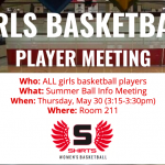 Girls Basketball Player Meeting