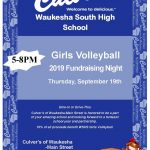 Girls Volleyball Culver's Night Thursday 9/19