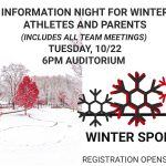 WINTER SPORTS INFORMATION – TONIGHT! Mandatory Meeting & Registration Info