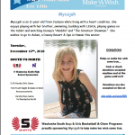 Help Us Make A Wish Come True – Tuesday December 17