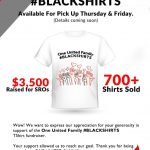 One United Family #BLACKSHIRTS T-shirt Fundraiser
