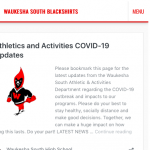 COVID-19 Information Page Created for Athletics and Activities