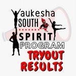 Spirit Program Tryout Results