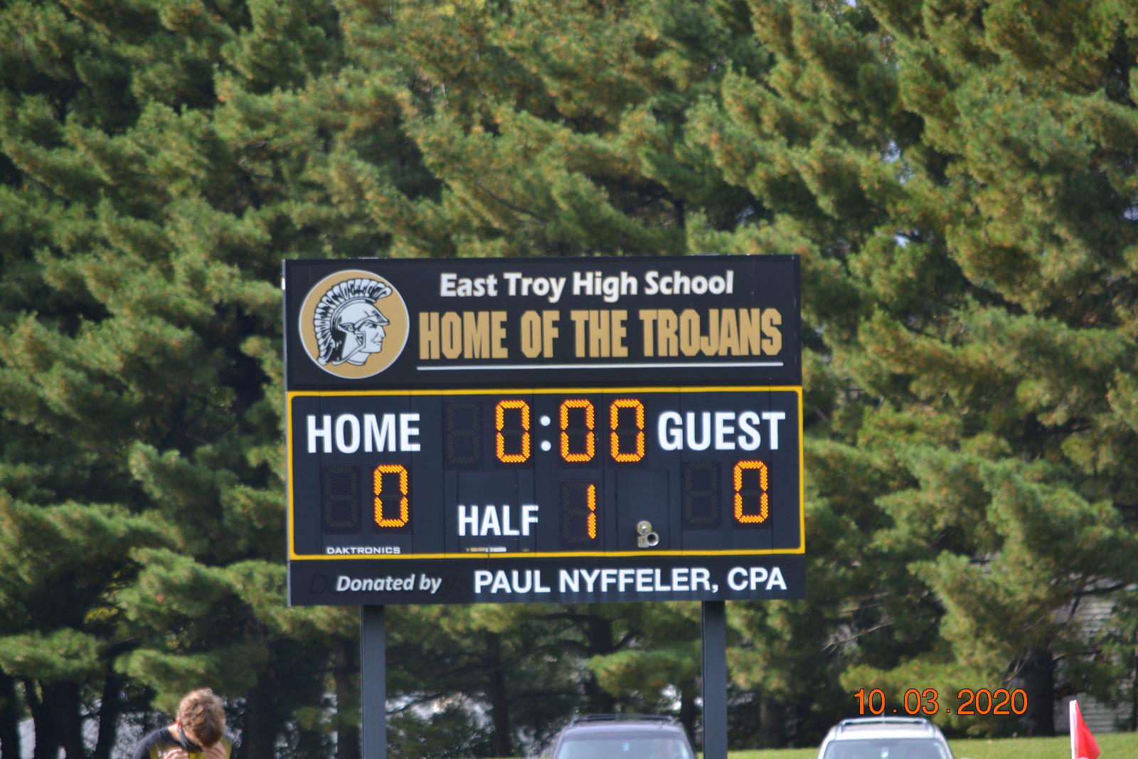Boys Varsity Soccer vs East Troy 10/3/20
