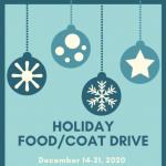 Holiday Food/Coat Drive Kicks Off Next Week!