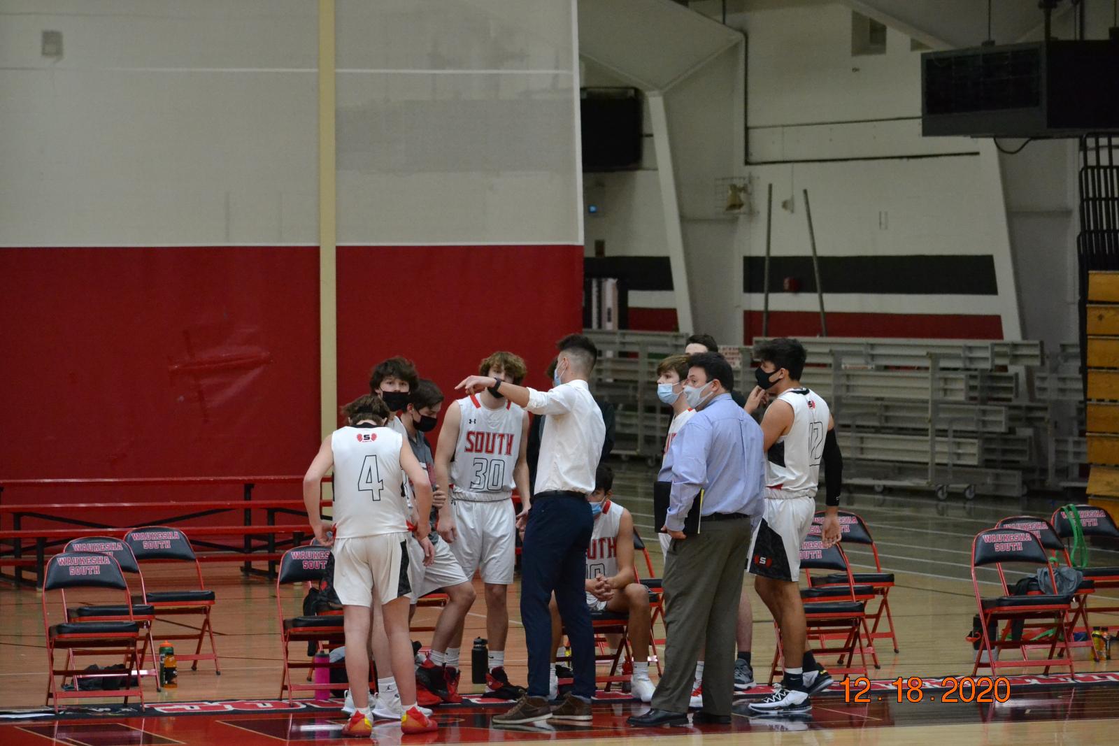 Boys JV Basketball vs West 12-18-20
