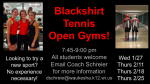 Blackshirt Tennis Open Gyms 2021