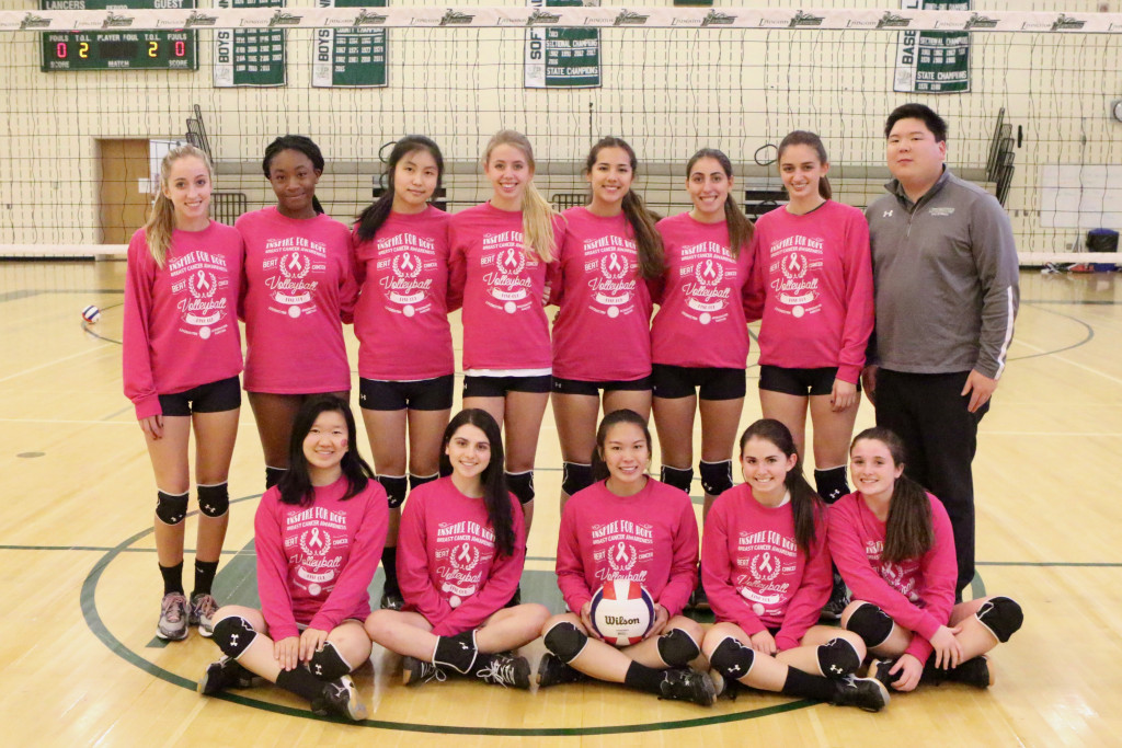 Girls Volleyball holds PINK OUT to support the National Breast Cancer Foundation