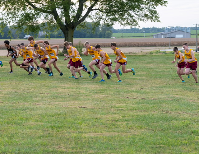 Cross Country victory over North Posey and Signature School, 9-22-20