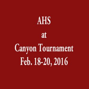 Canyon Tournament 2016
