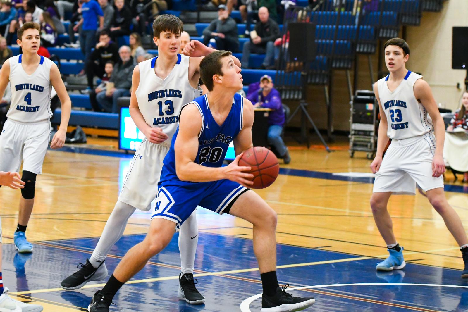 HCA Boys Basketball notches a win over North Lakes Academy!