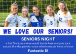 HCA Girls Soccer announces Senior Night!