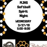 Softball spirit night tonight at Painturo's