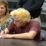 Dylan Quinn signing his LOI