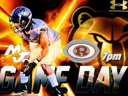 Varsity Football vs Oak Ridge 10/18  7PM    Mel Brown Athletic Complex