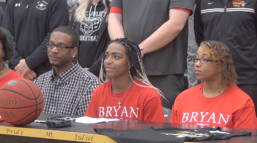 VIDEO: Nevaeh Majors signs with Bryan College