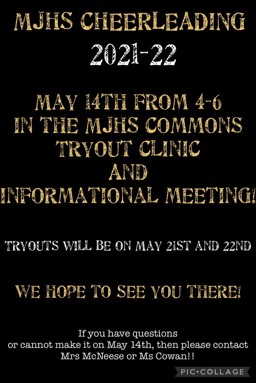 Cheer Clinic May 14th