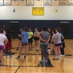 Tracey Hall Yarbrough Visits Open Gym