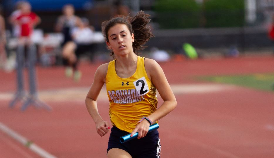 Blue Streaks in First Place After Day One of District Meet