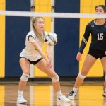 Blue Streaks Sweep Knights on Saturday Afternoon