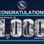 Perusek Scores 1,000th Point as Blue Streaks Win Home Finale