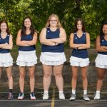 Tennis Team a 4-1 Winner on Senior Day