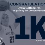 Lydia Gattozzi Scores 1,000th Career Point
