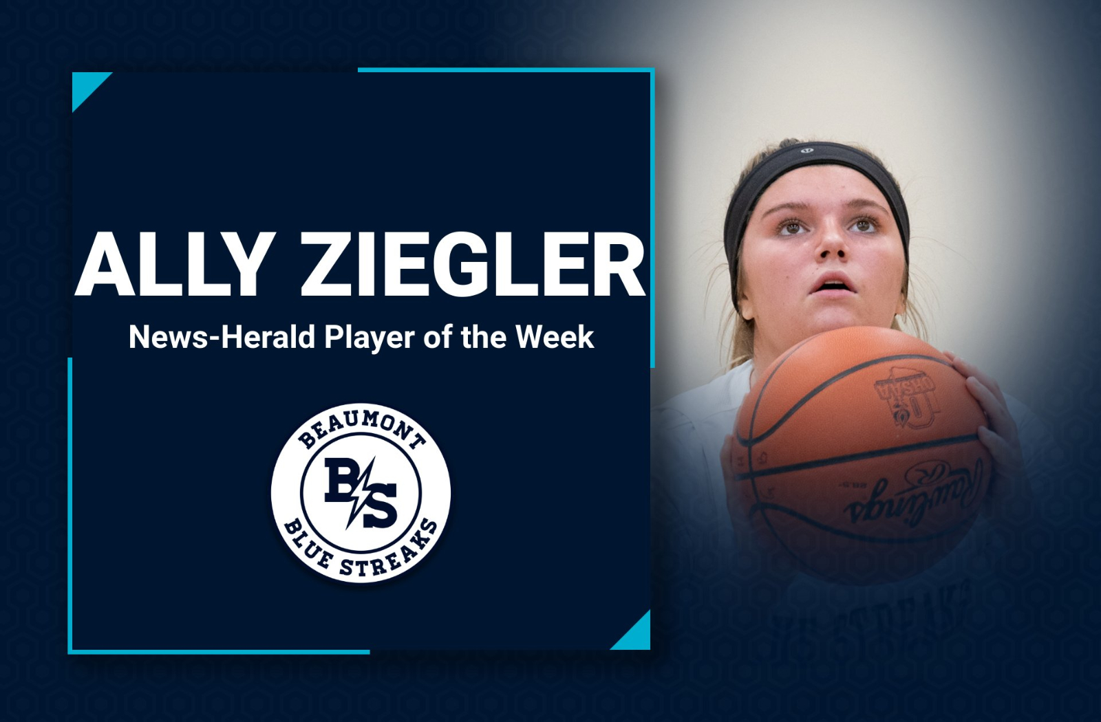 Ally Ziegler of @BeaumontHoops Named Player of the Week