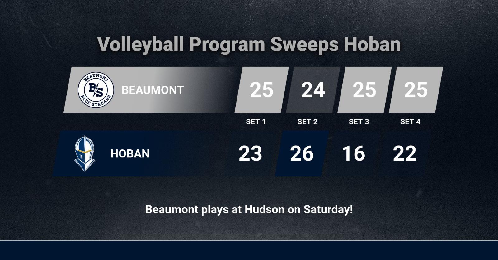 Volleyball Program Sweeps Hoban