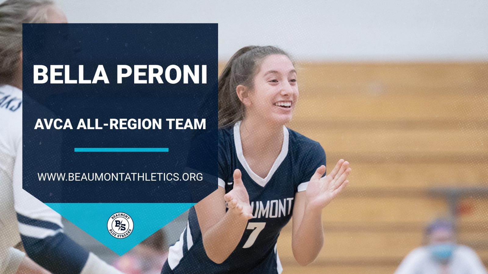 Bella Peroni Named to AVCA All-Region Team