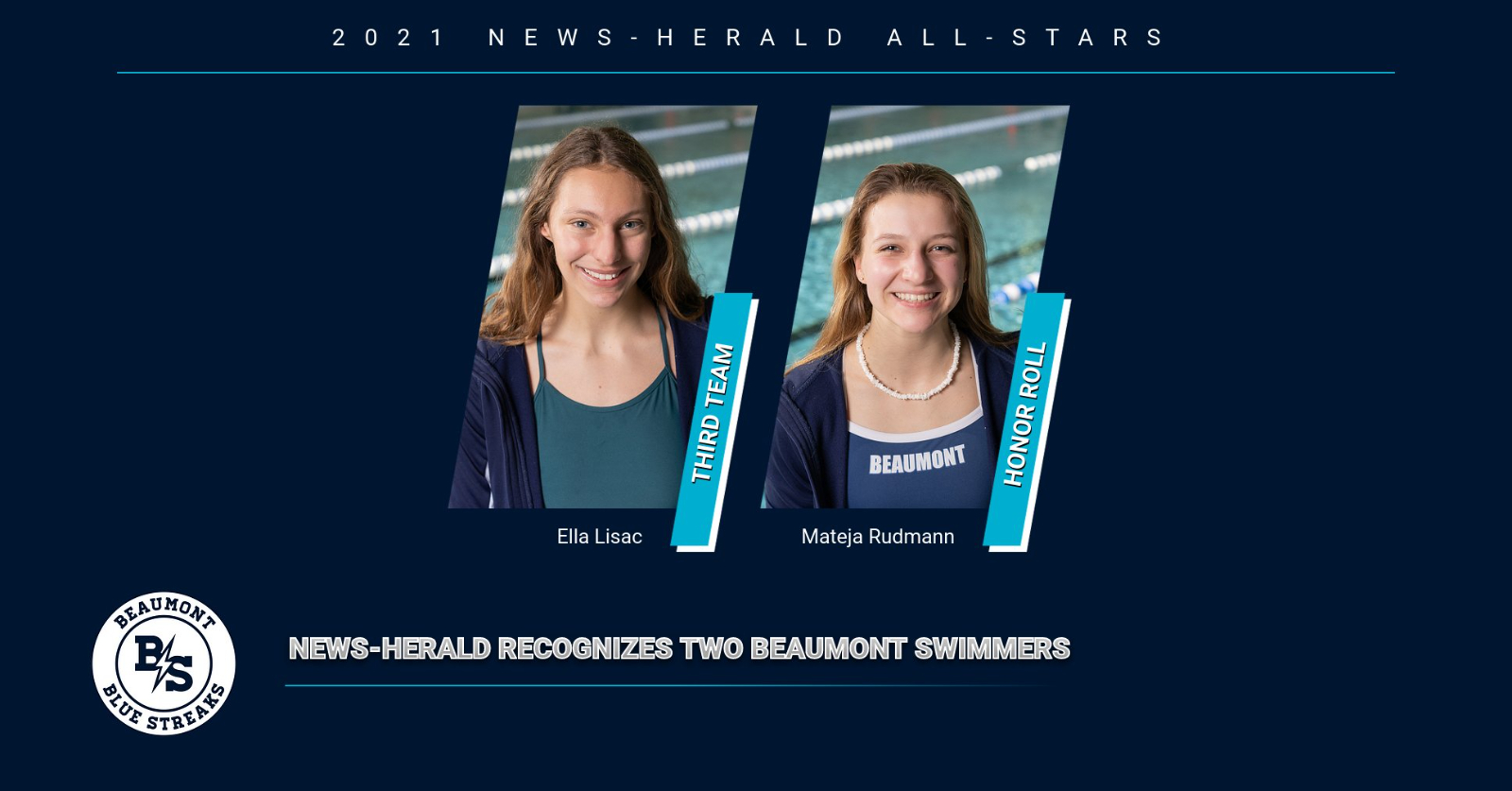 Lisac Named News-Herald All-Star, Rudmann Placed on Honor Roll