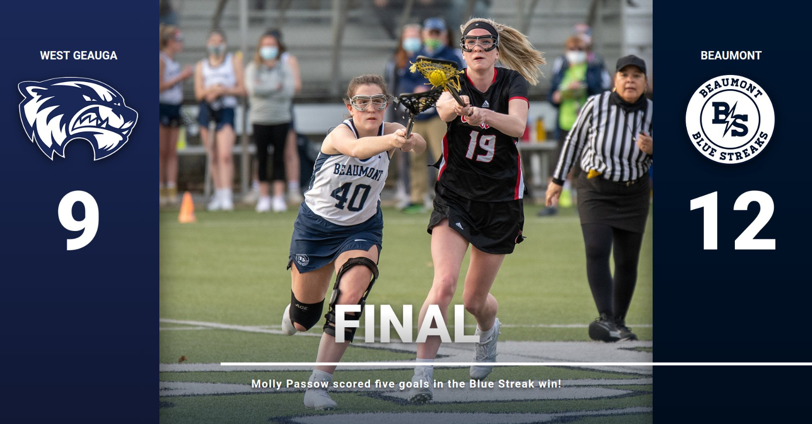 Lacrosse Team Battles Back to Beat West Geauga, 12-9