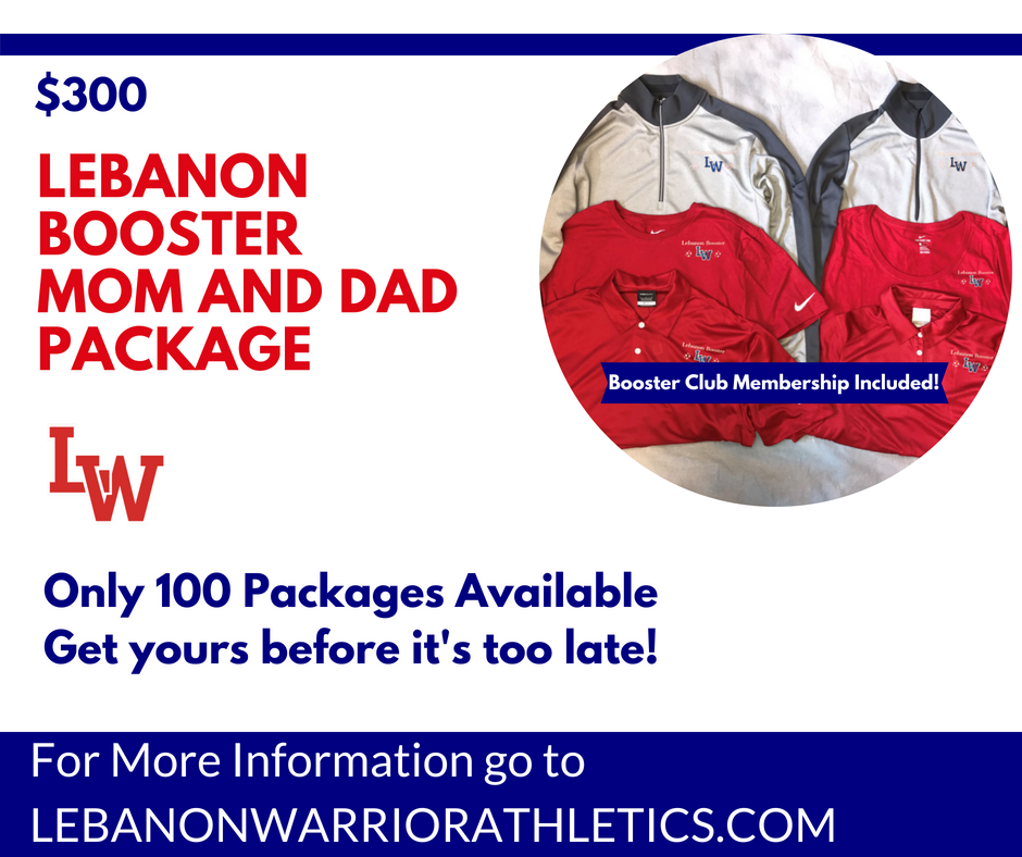 Lebanon Booster Mom and Dad Package