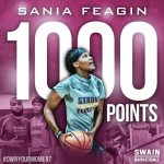 1000 Points!! CONGRATULATIONS Sania Feagin