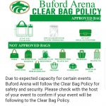 Coming to the final four game? Clear bag policy