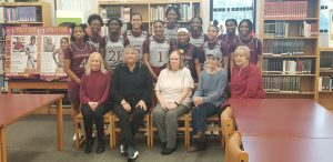Alumni including a member of the 1970 State champion team came to encourage our Lady Panther 🏀 team before the BIG game
