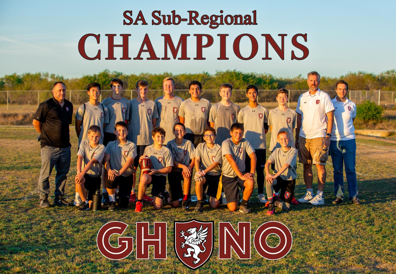 Middle School Flag Football advances to Regional Championship