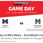 Follow Tonight's Football Game on Scorebook Live
