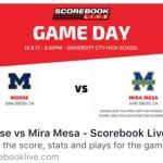 Follow Tonight's Football Game on Scorebook Live