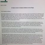 Letter to Athletes from CIF
