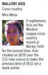 Mallory Asis Named UT High School Athlete of the Week