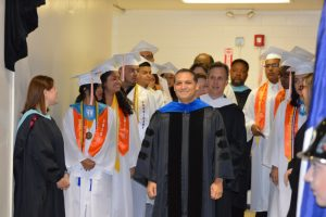 North Dallas High graduation pre-ceremony